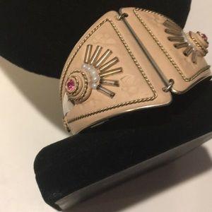 Jewelry - Amazing vintage handcrafted ceramic bracelet